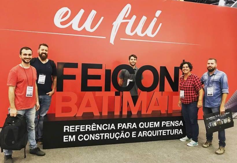 Equipe da Projeto Estrutural Online presente na Feicon Batimat 2018