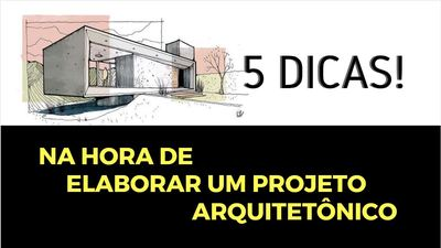 Capa 5 Dicas Projetos Arquitetônico 2