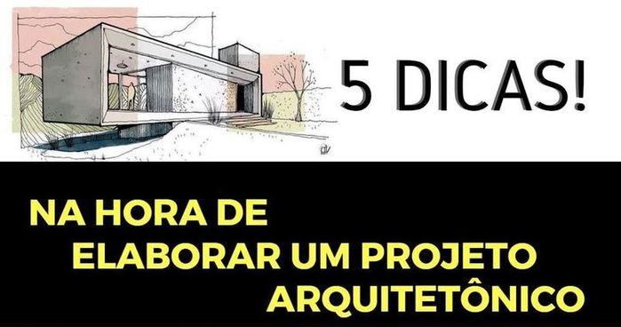 Capa 5 Dicas Projetos Arquitetônico