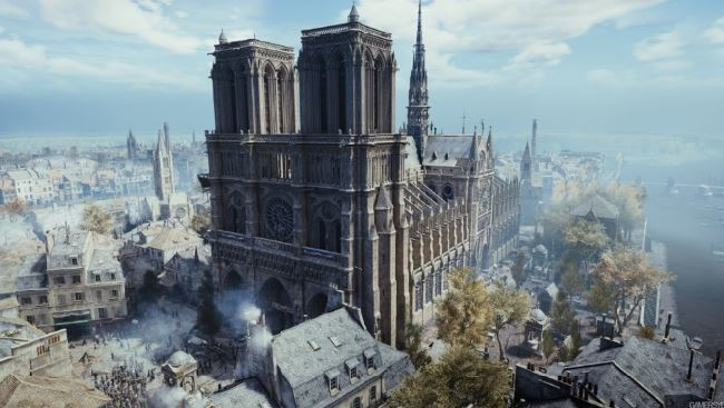 Catedral de Notre-Dame jogo Assassins Creed