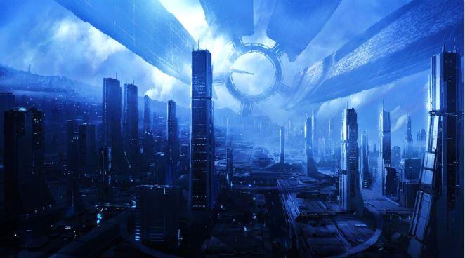 Mass Effect cidade futurista