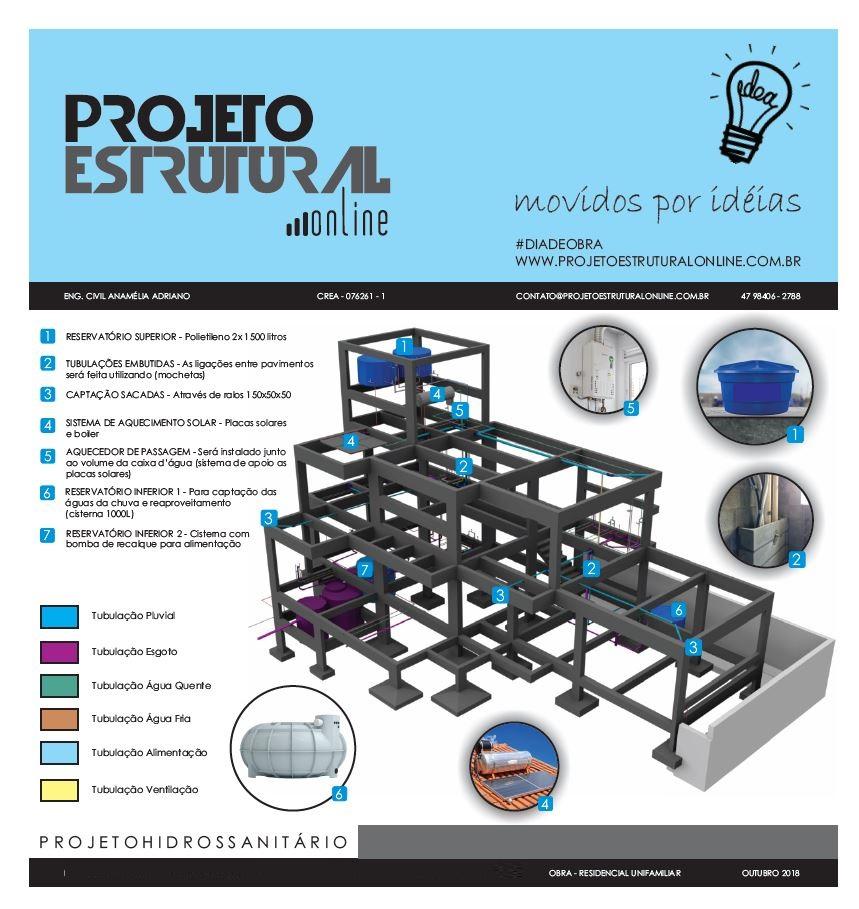 Exemplo Projeto Hidrossanitário - Feito por nossa equipe.