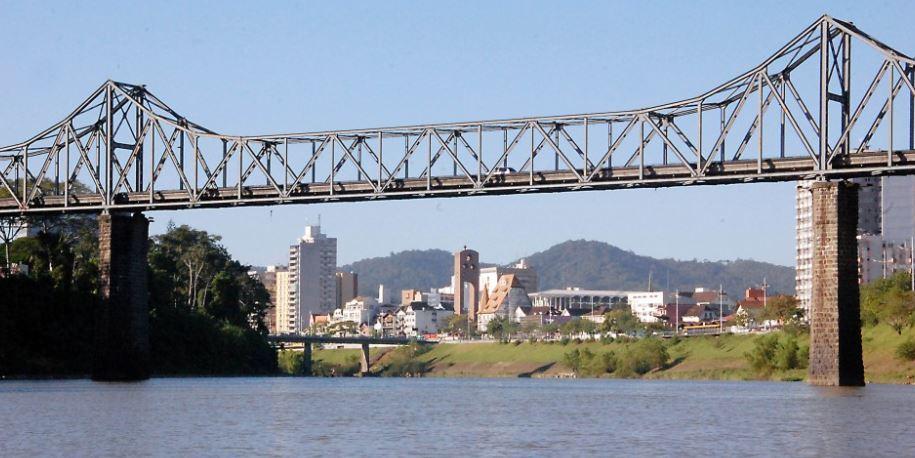 Ponte de Ferro Blumenau- Ponte Aldo Pereira de Andrade