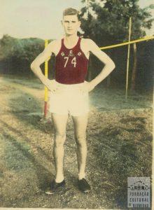 Egon Belz - na época de atleta - Acervo Fundação Cultural de Blumenau