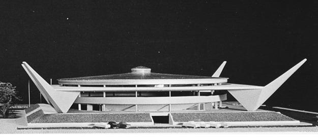 Foto da Maquete Original do Projeto do Galegão - Acervo Museu Egon Belz