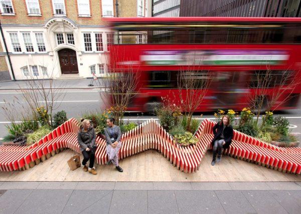 Parklet em Londres/Inglaterra