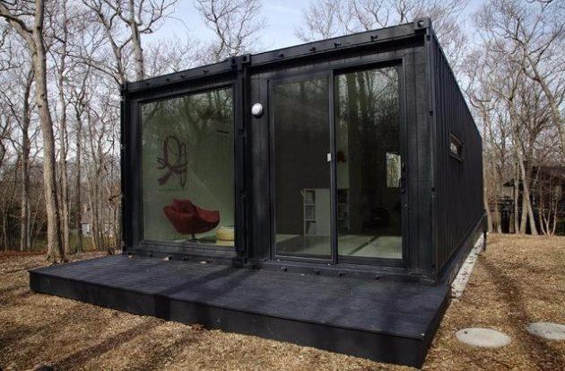 Casa Container com vidros