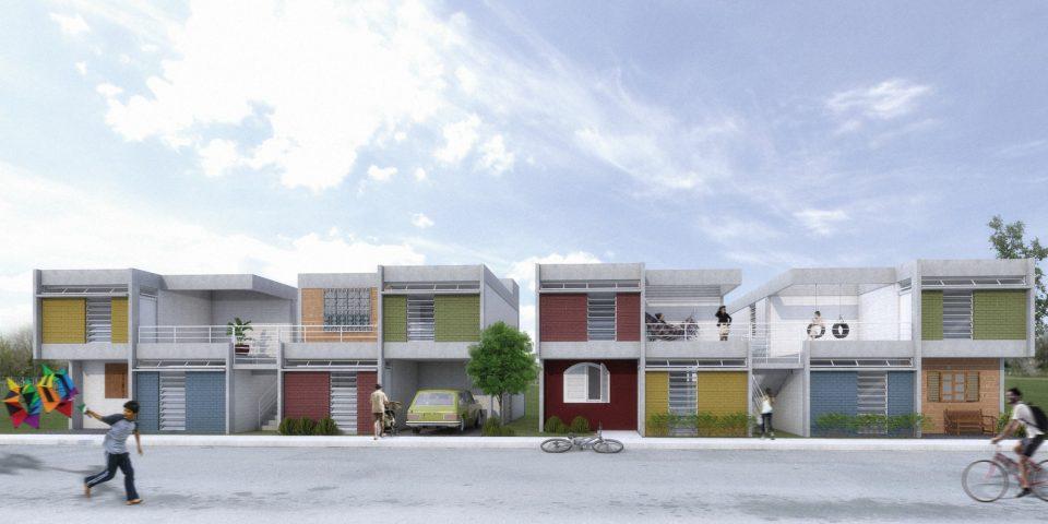 1º lugar no grupo 3 CODHAB para habitação (colaboração Projeto Estrutural Online) Imagem: Térreo Arquitetos