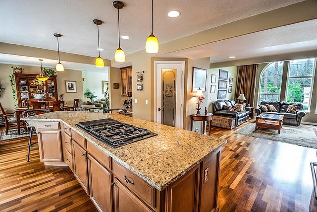 Cozinha e parte da sala. Foto: Kirk Fisher / Pixabay
