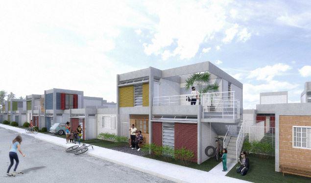 Concurso de Arquitetura – Projeto da Térreo Arquitetos 1º Lugar CODHAB. Colaboração: Projeto Estrutural Online