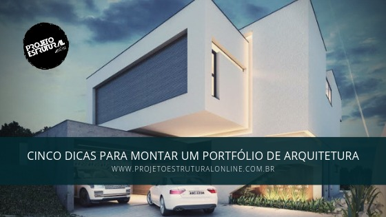 capa portfolio de arquitetura