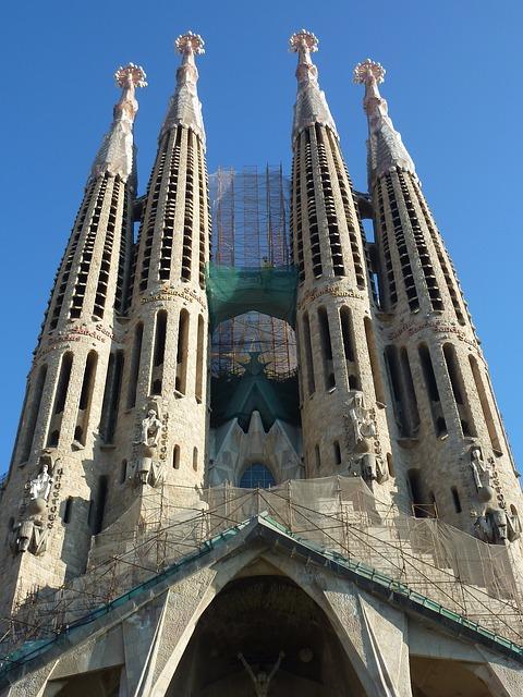 Temple Expiatori de la Sagrada Família - Antoni Gaudí. Foto: Pixabay